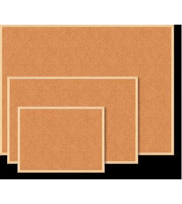 Доска пробковая 90*120см, рамка деревянная, Buromax