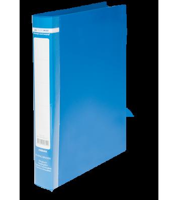 Папка А4 пластикова на 2 кільця 25мм синя Jobmax,  Buromax