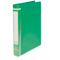 Папка А4 пластикова на 2 кільця 25мм зелена Jobmax,  Buromax