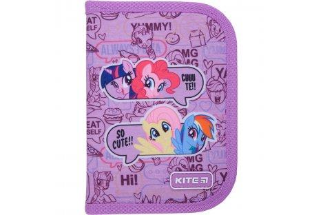 Пенал твердый с наполнением 1 отделение 2 отворота на молнии Education My Little Pony, Kite