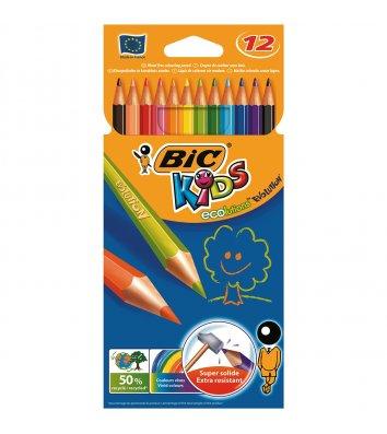 """Олівці кольорові 12шт шестигранні """"Evolution"""", Bic"""
