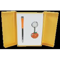 Набір ручка кулькова та брелок Apple помаранчевий, Langres