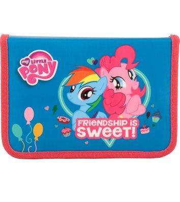 Пенал твердий 1 відділення 2 відвороти на блискавці  Little Pony, Kite