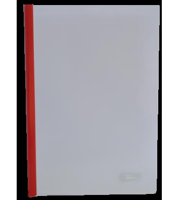 Папка А4 пластикова з планкою-притиском 2-95арк червона, Buromax