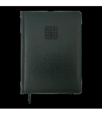 Ежедневник датированный A5 2021 Bravo (Soft) зеленый, Buromax
