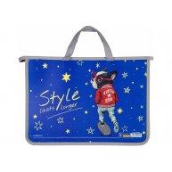 """Портфель А4 пластиковый на молнии 2 отделения """"Space"""", Cool for School"""