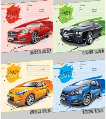 Тетрадь 24 листа линия, обложка Транспорт/Спорт в ассортименте
