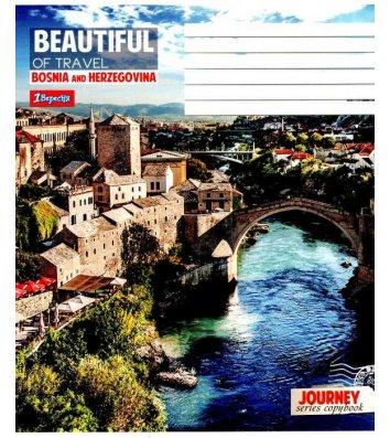 Тетрадь 24 листа линия, обложка Путешествия/Города в ассортименте
