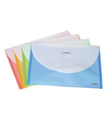 Папка-конверт А4 на кнопке пластиковая непрозрачная двухцветная ассорти, Axent