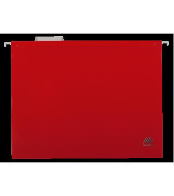 Файл підвісний А4 пластиковий червоний, Buromax