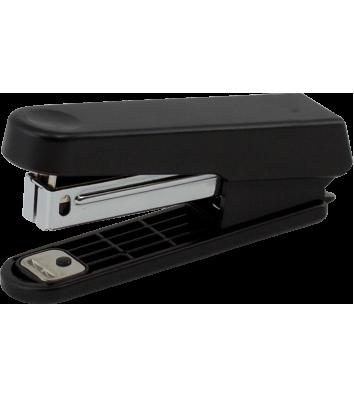 Степлер 10л скобы 10 пластиковый корпус черный, Buromax