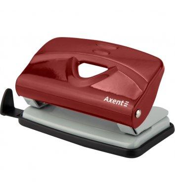Дырокол 10л корпус металлический цвет красный Exakt, Axent