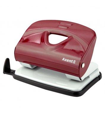Дырокол 20л корпус металлический цвет красный Exakt-2, Axent