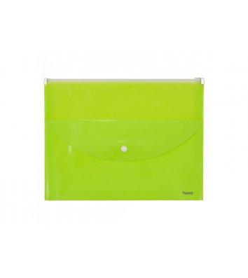 Папка-конверт A4 zip-lock 2 відділення жовта, Axent