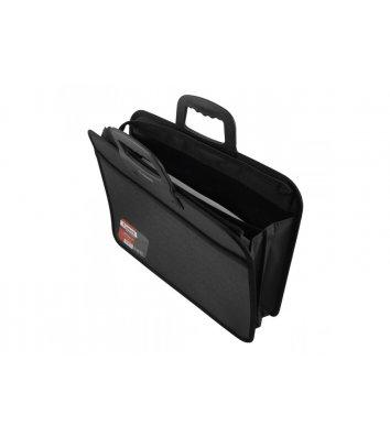 Портфель А4 пластиковый 2 отделения черный, Axent