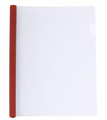 Папка А4 пластикова з планкою-притиском 2-65арк червона, Economix