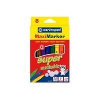 Фломастери  8 кольорів Maxi Super Washable, Centropen