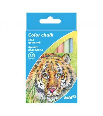 Крейда кольорова 12шт, Kite