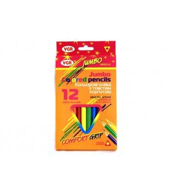 Карандаши цветные 12шт трехгранные Jumbo, VGR