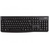 Клавіатура комп'ютерна провідна чорна, Logitech Keyboard K120 EOM UKR