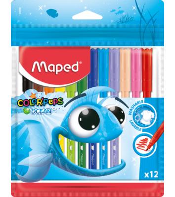"Фломастеры 12 цветов ""Color Peps Ocean"", Maped"