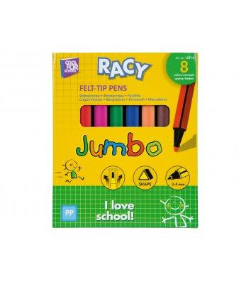 """Фломастери  8 кольорів тригранні Jumbo """"Racy"""", Cool for School"""