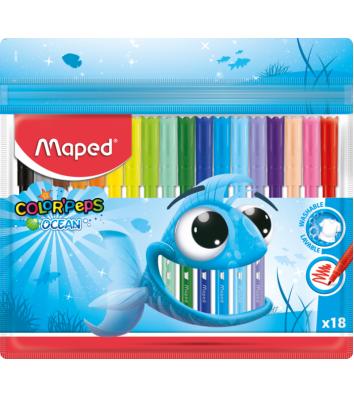 "Фломастери 18 кольорів ""Color Peps Ocean"", Maped"