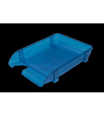 Лоток горизонтальный пластиковый голубой прозрачный, Arnika
