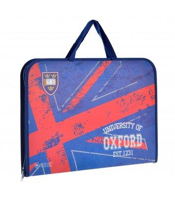 """Портфель А3 пластиковий на блискавці """"Oxford"""", Yes"""