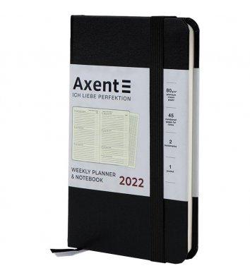 Щотижневик датований 2021 Pocket Strong 90*150мм чорний, Axent