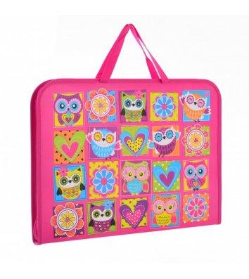 """Портфель А3 пластиковий на блискавці """"Owl"""", Yes"""