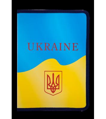 Папка A4 пластикова на блискавці Ukraine cиньо-жовта, Buromax