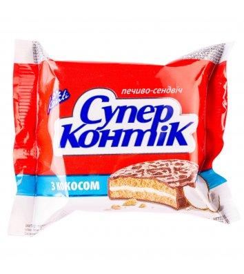"""Печиво """"Супер-Контік"""" з кокосом 50г, Конти"""