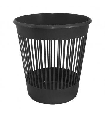 Корзина для мусора пластиковая черная 10л, Delta