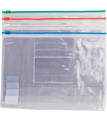 Папка-конверт А5 на блискавці пластикова асорті, Buromax