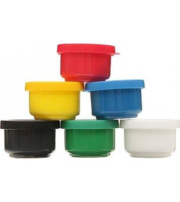 Фарби пальчикові 6 кольорів 30мл, Kidis