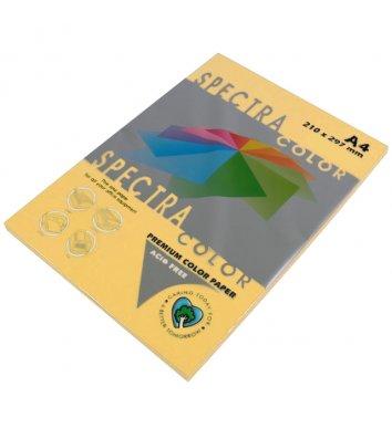 Бумага А4 80г/м2 100 листов цветная Spectra Color, интенсив золотистый