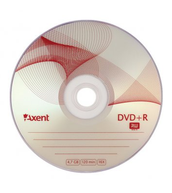 Диск DVD+R 4.7Gb 120min 16x, Axent