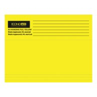 Файл подвесной А4 картонный желтый, Economix