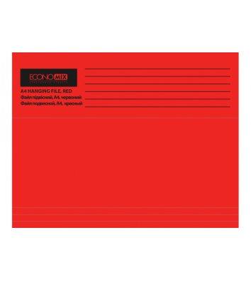 Файл підвісний А4 картонний червоний, Economix