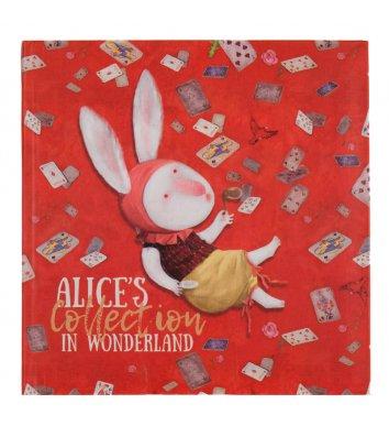 "Скетчбук 165*165мм 80арк інтегральна обкладинка ""Alice in Wonderland"", Axent"