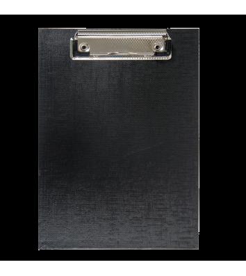 Планшет А5 с прижимом PVC черный, Buromax