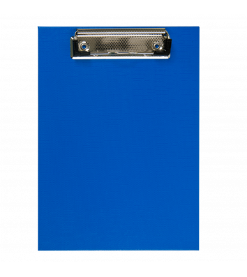 Планшет А5 с прижимом PVC темно-синий, Buromax