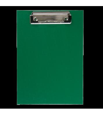 Планшет А5 с прижимом PVC зеленый, Buromax