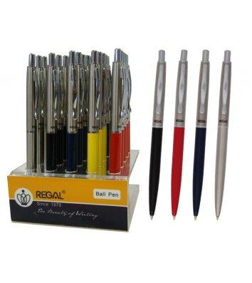 Ручка кулькова металева, колір корпусу асорті, Regal