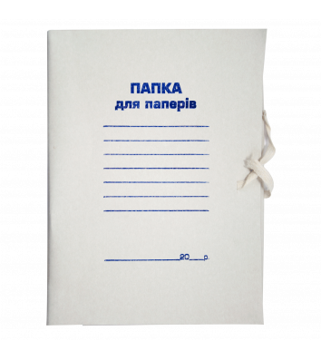 Папка А4 паперова на зав'язках Jobmax, Buromax
