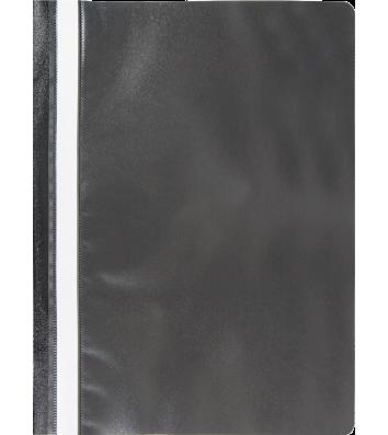 Папка-швидкозшивач А4 без перфорації, фактура матова чорна, Buromax