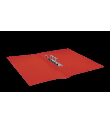 Папка А4 пластиковая с зажимом Clip B красная, Buromax