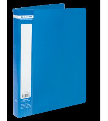 Папка А4 пластиковая 40 файлами синяя Jobmax, Buromax