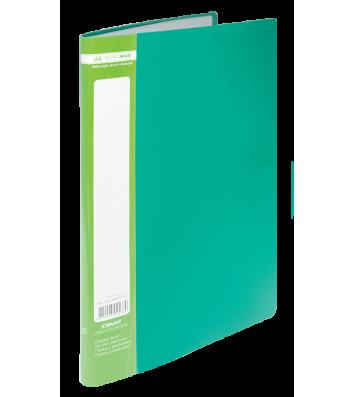 Папка А4 пластикова з 10 файлами зелена Jobmax, Buromax